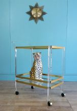 Vintage Lucite drinks trolley - SOLD